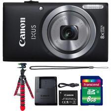 Canon IXUS 185 / ELPH 180 Digital Camera Black + 8GB Memory Card + Tripod