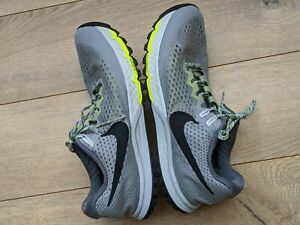 Men's Nike Air Zoom Terra Kiger 4 Grey/Volt Flywire Trail Running Shoes US 9.5