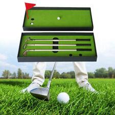 Desktop Golf Ball Pen Gift Set Golf Pen Set With Flag Ballpoint Gift Golf Clubs