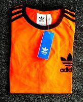 Adidas Originals Mens Trefoil California Tees Crew Neck T Shirt Orange Black