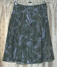 Fat Face ~ Ladies Lined, Khaki, Patterned Cotton Skirt ~ Size 12