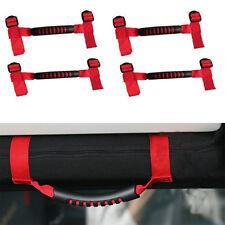 4X  Red Unlimited Roll Bar Grab Handles Grip Handle for Jeep Wrangler JK TJ CJ