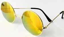 Unisex Naranja Espejados Marco Redondo Gafas De Sol Protección UV Nuevo Vendedor de Reino Unido
