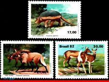 1801-03 BRAZIL 1982 BRAZILIAN FAUNA, ARMADILLO, WOLVES AND DEER, C-1261-63 MNH