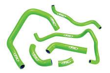 Race Dept Silicone Radiator Coolant Hose Kit Green Kawasaki KXF 450 09-15