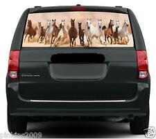 Running Horses in a Row Car or Caravan Rear Window Vehicle Graphic Sticker/Decal