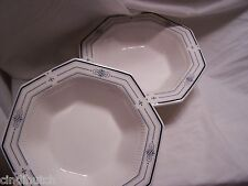 2 Nikko Classic Collection Trianon Blue Serving Vegetable Bowls HTF