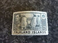 FALKLAND ISLANDS POSTAGE STAMP SG160 2/6D SLATE VERY LIGHTLY-MOUNTED MINT