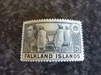 FALKLAND ISLANDS POSTAGE STAMP SG160 2/6D SLATE VERY LIGHTLY MOUNTED MINT