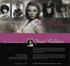 "JOAN COLLINS - Glossy 8"" x 4"" Card Flyer SOUTH BANK SHOW 1999  F#30"