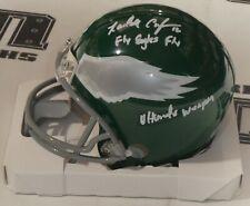 Randall Cunningham Signed Eagles Football Mini Helmet BAS Beckett COA Autograph