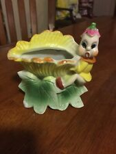 Vintage Royal Sealy Elf Pixie Wall Pocket Planter Hand Painted - Japan