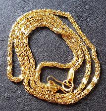 """Por mayor collar chapado en oro 18K Fina 16.5"""" y caja de regalo."""
