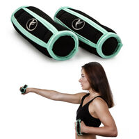 2pk Walking Weights 1lb Soft Hand Grip Exercise Workout Jogging Gym Dumbbells