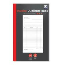 A5 Invoice Duplicate Book - Office Work 80 Numbered Pages Carbon Paper Receipt