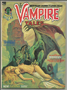 VAMPIRE TALES #2 FN+ key 1st appearance Satana ~ Morbius ~ Steranko Marvel 1973