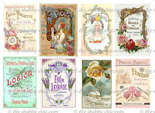 OLD PARIS SOAP DECALS STICKER SHABBY CHIC FRENCH IMAGE TRANSFER VINTAGE LABELS