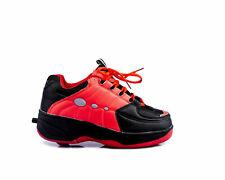 Schuhe mit Rollen Kinder Roll Schuhe  Roller Wheels schwarz / rot alle Gr. 35-40