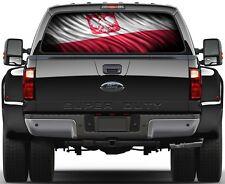 Polish Flag, Polska Flaga Version 2 Rear Window Graphic Decal Truck SUV
