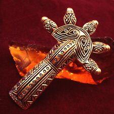Alemannische Bügelfibel Bronze germanic brooch Larp