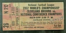 1952 Cleveland Browns NFL Championship Football Game Ticket Stub
