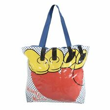 Disney Mickey Minnie Mouse Beach Bag Large Blue Tote Shopper Holiday Summer