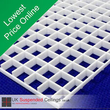 5 Air Vent / Light Louver For Suspended Ceilings, 595x595mm Plastic Eggcrate