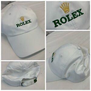 Rolex Baseball Tennis Cap Hat White Poly Nylon Stitched NWOT One Size YGI G1-428