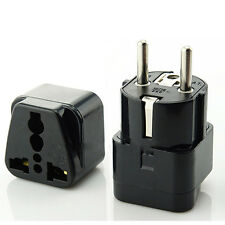 Universal AU UK US to EU AC Power Plug Travel Charger Adapter Socket Converter