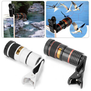 Phone Telescope 12x Optical Zoom Clip on Camera Lens Cell Phone Universal