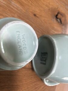 Vintage green Woods ware china