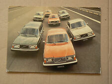 Grande Carte Postale Ancienne VOLVO  242 244 265  prospectus brochure catalogue