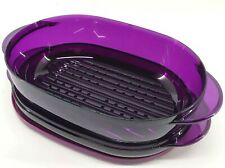 Tupperware Tupperwave 1.5 Qt. Oval Microwave Container Set Purple New