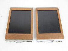 "Lot of 2 Burke & James 4x5"" Cut Sheet Film Holder Wood/Metal"