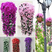 NUOVO decorazione edera artificiale ghirlanda fiori di CORONA D'EDERA piante