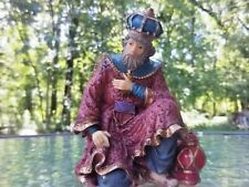 "Vtg Kneeling Wise Man Nativity Set Creche Stable 3.75"" Figure Christmas Decor"