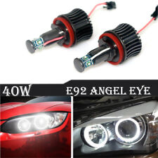 For BMW E60 E61 E90 E92 X5 4-Side LED Light 40W H8 Angel Eyes Halo Ring Bulbs