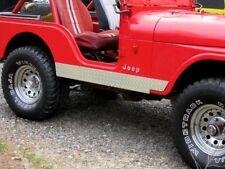 """CJ5 CJ-5 DIAMOND PLATE ROCKER GUARDS w/ 1"""" Lip Tucks under Jeep FREE SHIPPING :)"""