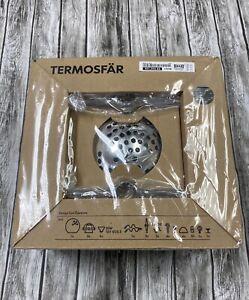 IKEA Termosfar Track Lighting Kit with 5 Spotlights Silver Chrome New in Box