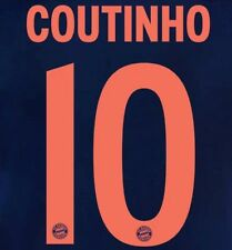 2019-20 Bayern UCL Third Shirt COUTINHO#10 Official Avery Dennison Name Number