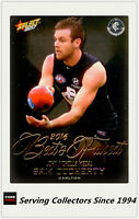 2017 AFL Footy Stars Trading Card Best & Fairest BF3 Sam Docherty (Carlton)