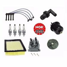 Complete Tune Up Kit Filters Cap Rotor NGK Wires Plugs Valve Fits Honda CRV