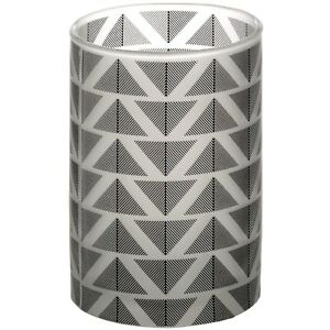 Grey And White Large Chevron Tealight Holder - Style My Pad