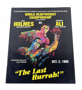 Vtg 80s Don King Larry Holmes vs Muhammad Ali World Title Program Booklet 1980