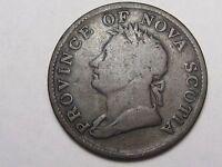 1832 Nova Scotia Canada ½ Penny Thistle Token.  #46