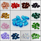 50x Mix 5 Colors Teardrop Crystal DIY Spacer Beads Faceted Glass Jewelry Making