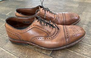 Allen Edmonds 1635 Walnut Strand Brogue Oxford Leather Dress Shoes 9D