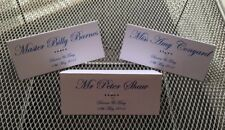 10 x Diamante Place Cards Name Settings Table decoration Wedding Birthday