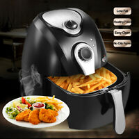 1300W 4.4QT Electric Oil Less Air Fryer Timer and Temperature Control Black