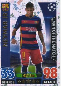 Topps Match Attax Champions League 2015/2016 15 16 Man of the Match cards